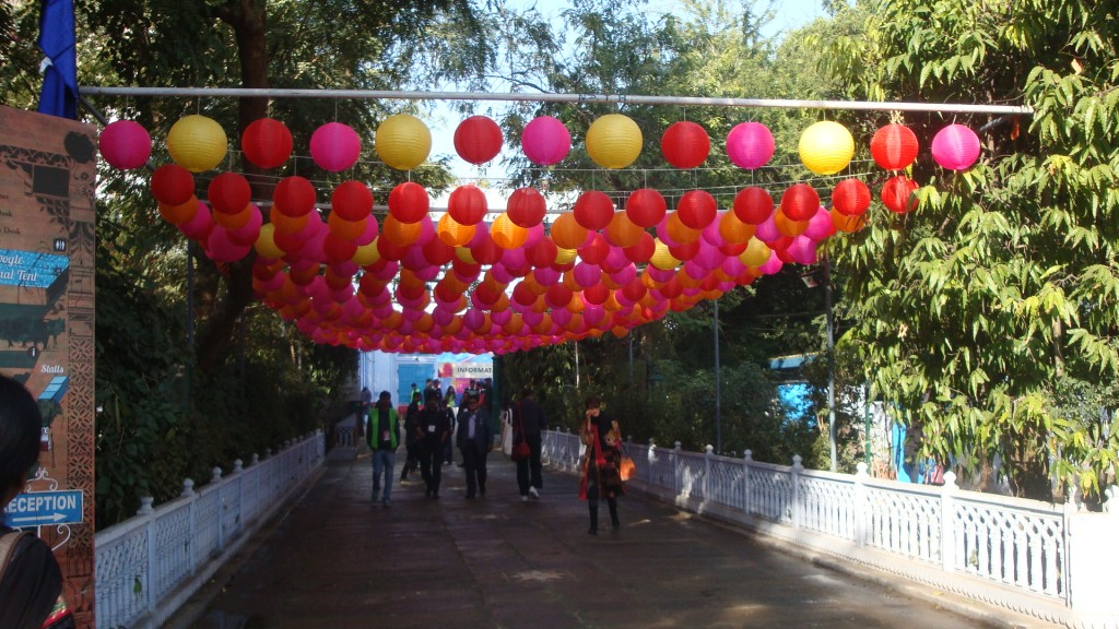 Jaipur Literature Festival - Way to Lawns