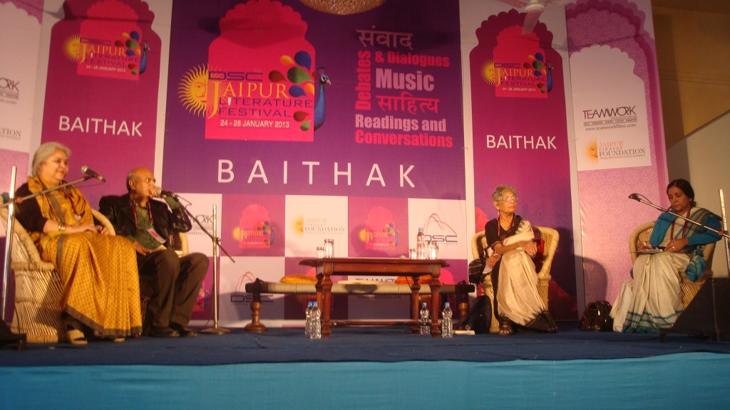 The face behind the mask at Baithak Venue - JLF 2013