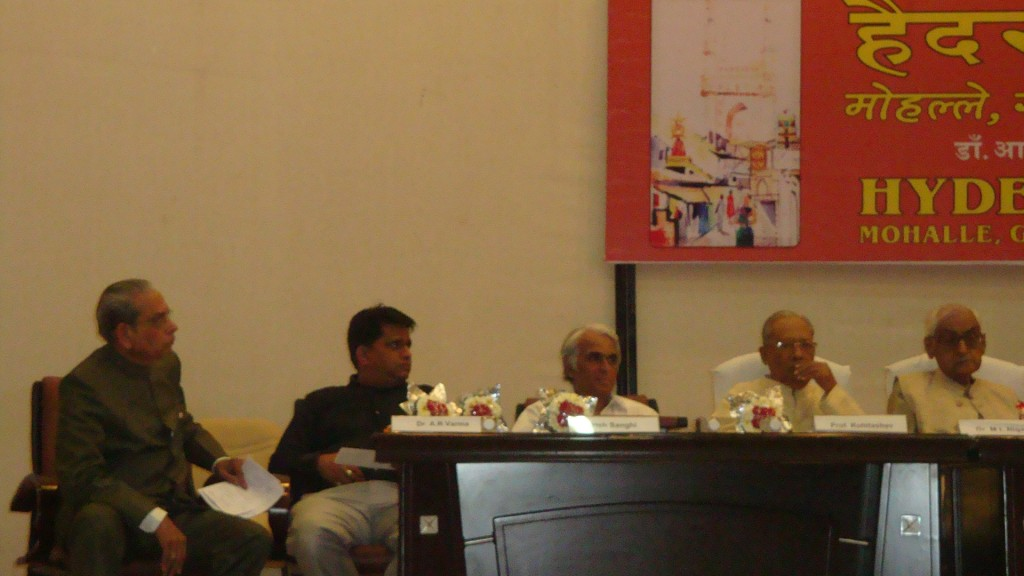 The publisher of the book, R.K. Gupta listening to the speeches.